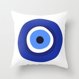 evil eye symbol Throw Pillow