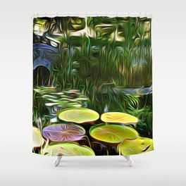 Greenery Pond Shower Curtain