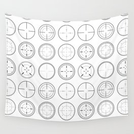 Sniper Scope Targets Wall Tapestry