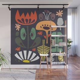 Scandinavian Wildflowers Wall Mural
