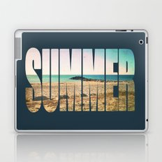Summer - Frontignan beach in southern france - seascape Laptop & iPad Skin