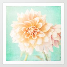 Flower Peachy Bloom Art Print