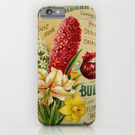 088 Hyacinthus Lily Tulips Daffodil2 iPhone Case