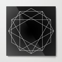 Poly Constellation Outline Metal Print