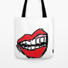 Rough sketch of Lips. Tote Bag
