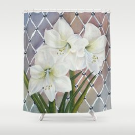 Amaryllis lily Flowers Shower Curtain