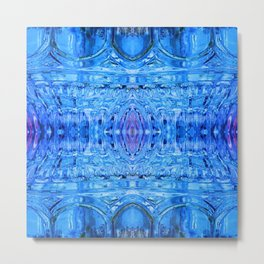 Blue Glass Mandala 836 Metal Print