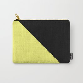 two-tone, black, yellow, double, triangle. Carry-All Pouch