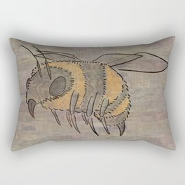 The Bee in the Wood Rectangular Pillow