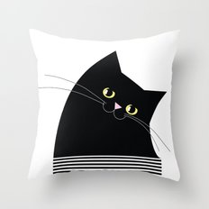 Black Cat of Lara Throw Pillow