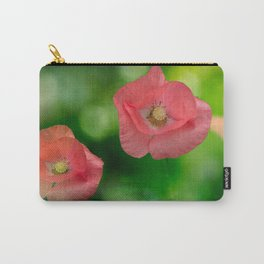 Field pink poppies Carry-All Pouch