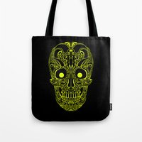 devil Tote Bags featuring Devil by Littlefox