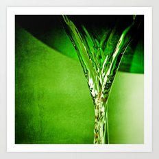 Green Water  Art Print