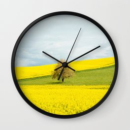 One Tree Hill landscape photograph Wall Clock