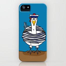 Eglantine la poule (the hen) dressed up as a seaman iPhone Case