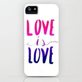 Love is Love - bi iPhone Case