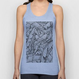 Black & White Jungle #society6 #decor #buyart Unisex Tank Top