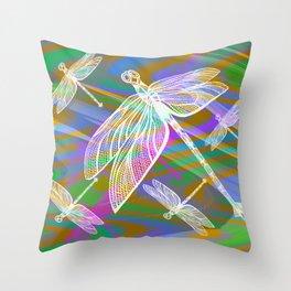 Dragonflies C2 Throw Pillow