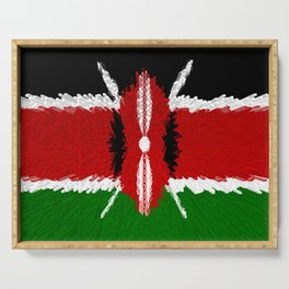 Extruded Flag of Kenya Serving Tray