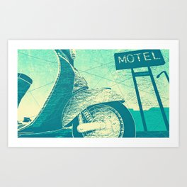 Scooter - Transportation Series Art Print
