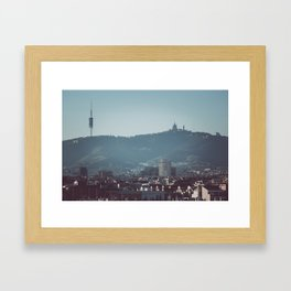 Barcelona from Montjuic Framed Art Print