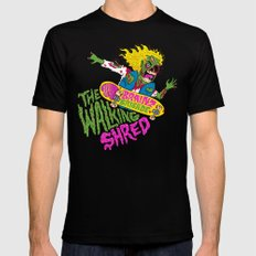 The Walking Shred MEDIUM Black Mens Fitted Tee