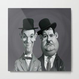 Laurel and Hardy Metal Print