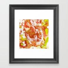 Color Commentary #8: Canteloupe, Honeydew (Bright Yellow Green & Orange) [Marilyn Fenn] Framed Art Print
