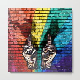 EFF cats rainbows and unicorns Metal Print