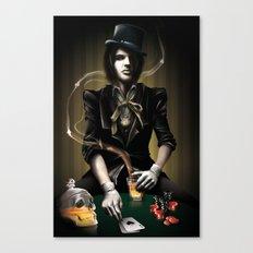 Coup de Poker Canvas Print