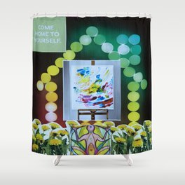 Collage - Come Home to Yourself Shower Curtain