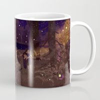 fireflies Mugs featuring fireflies by Lara Paulussen