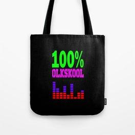 100% oldskool music logo Tote Bag