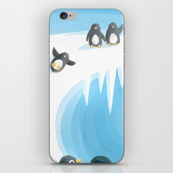 Penguin Playground iPhone & iPod Skin