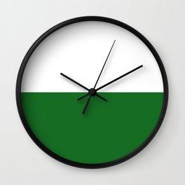 flag of Sachsen (saxony) Wall Clock