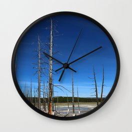 Lodgepole Pines In Geyser Basin Wall Clock