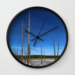 Lodgepole Pines In Geyser Basin Wall Clock