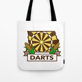 Dart Board Iowa State Map Corn Retro Tote Bag