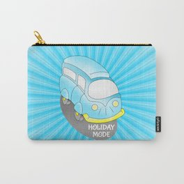 Road Trip Blue Van Carry-All Pouch