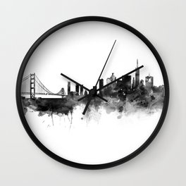 San Francisco Black and White Wall Clock