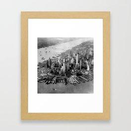 Historic Manhattan 1931 Framed Art Print