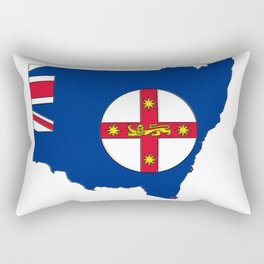 New South Wales Australia Map with NSW Flag Rectangular Pillow