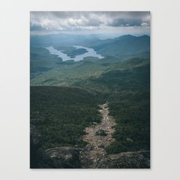 Lake Placid from Whiteface Mountain Canvas Print