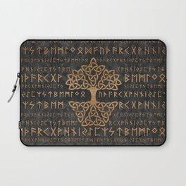 Elder Futhark Pattern and Tree of life Laptop Sleeve