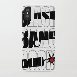 SLASH BANG BOOM! iPhone Case