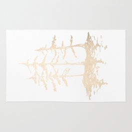 Three Sisters Forest White Gold Trees Rug