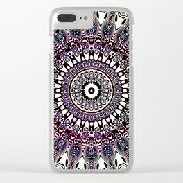 Foxy Mandala Clear iPhone Case