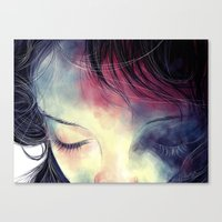 sleep Canvas Prints featuring Sleep  by margaw