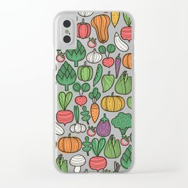 Farm veggies Clear iPhone Case
