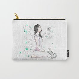 Yoga with her Cat Carry-All Pouch